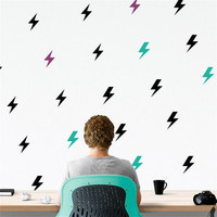 36pcs/set american Lightning Bolt thunder Pattern wall Stickers for home decor