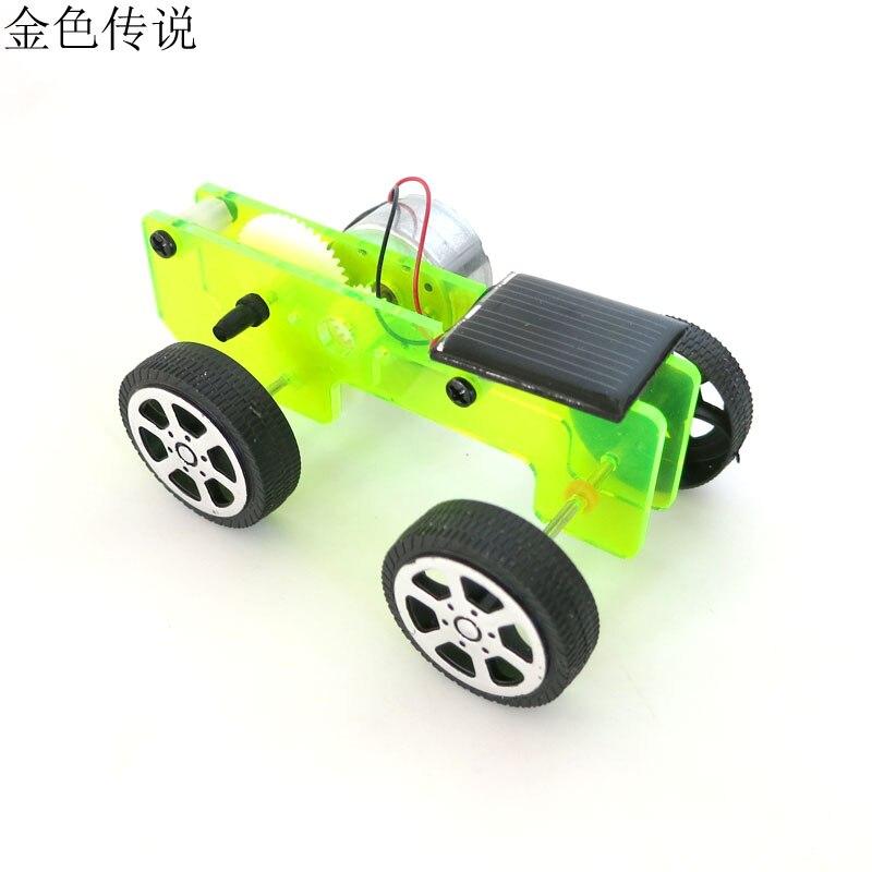 F17936 8 DIY Solar Toy Car Assemble Solar Vehicle Mini Solar Energy Powdered Toys Racer Child