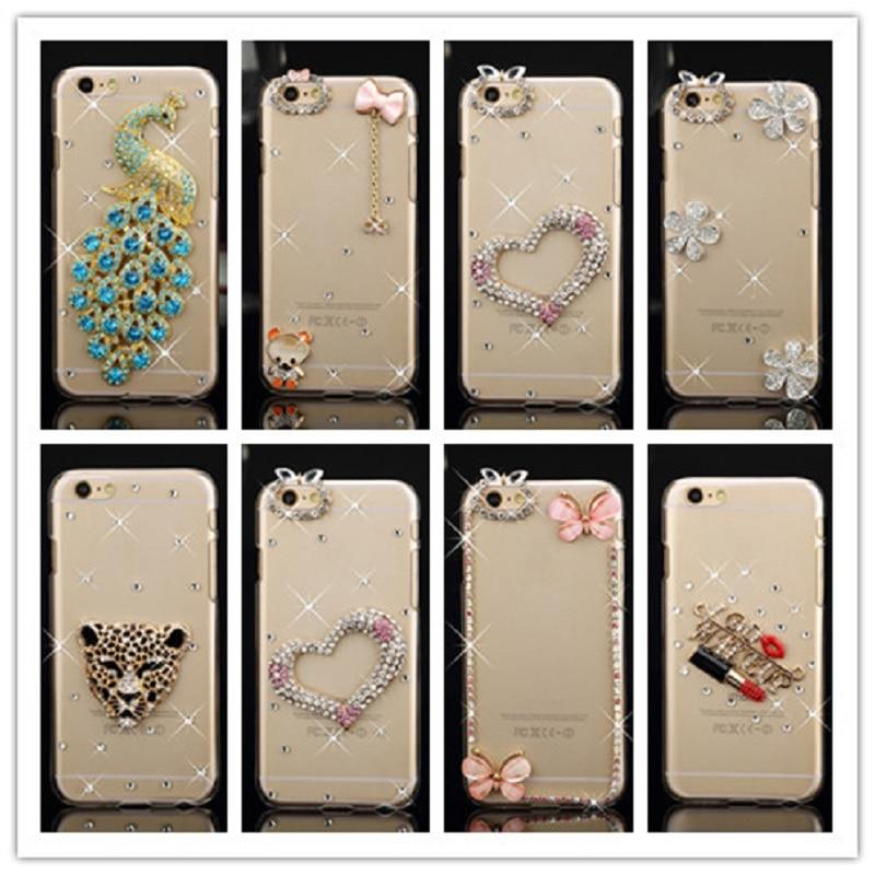 Funda de lujo Bling Diamond Rhinestone para Apple Iphone 5 5s 6 6s 7 - Accesorios y repuestos para celulares