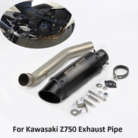 Z750 Motorcycle Exhaust System Mid Link Pipe Slip On Tip Baffler Escape Whole Set Pipe For Kawasaki Z750 Exhaust