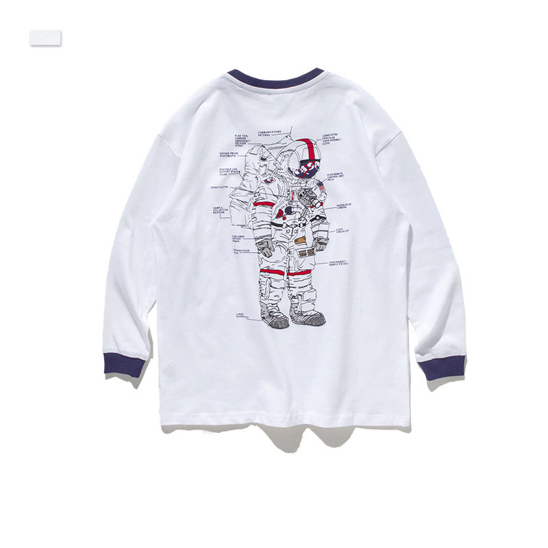 Ouyang&Ivan autumn student cotton t-shirt new fashion brand astronaut print boy loose long-sleeved T-shirt(China)