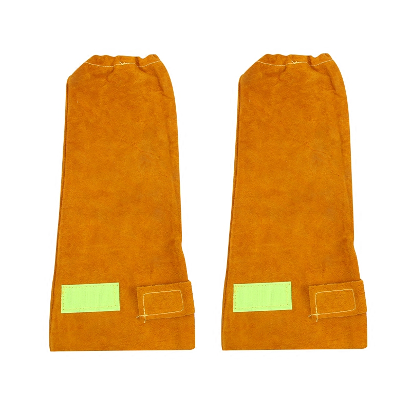 Wear-resistant Cowhide Welding Leather Sleeves of Welder clothing with High Temperature Resistance Working Safety Sleeves G0823 цена