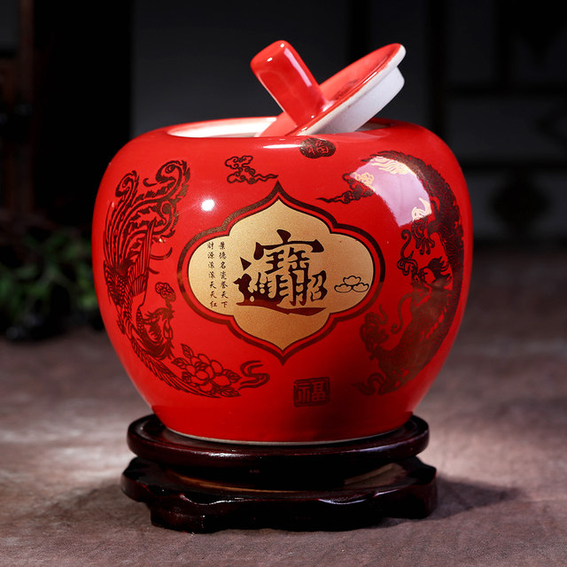 Online shop china red glazed home and wedding decoration christmas china red glazed home and wedding decoration christmas eve apple vase junglespirit Gallery