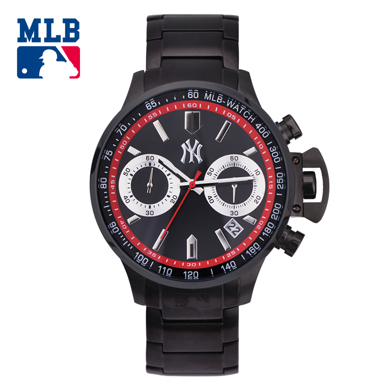 MLB NY black satinless steel watch fashion  personality watches sport outdoor quartz men'watch waterproof watch hot clock SD005 dl 14 ваза декоративная на ножке raffaello delta 1225965
