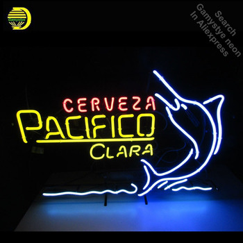 Cerveza Pacific Neon Light Sign clara Neon Bulb sign Handcraft Hotel Beer Pub Signs lampara neon personalized Lamp Advertisement