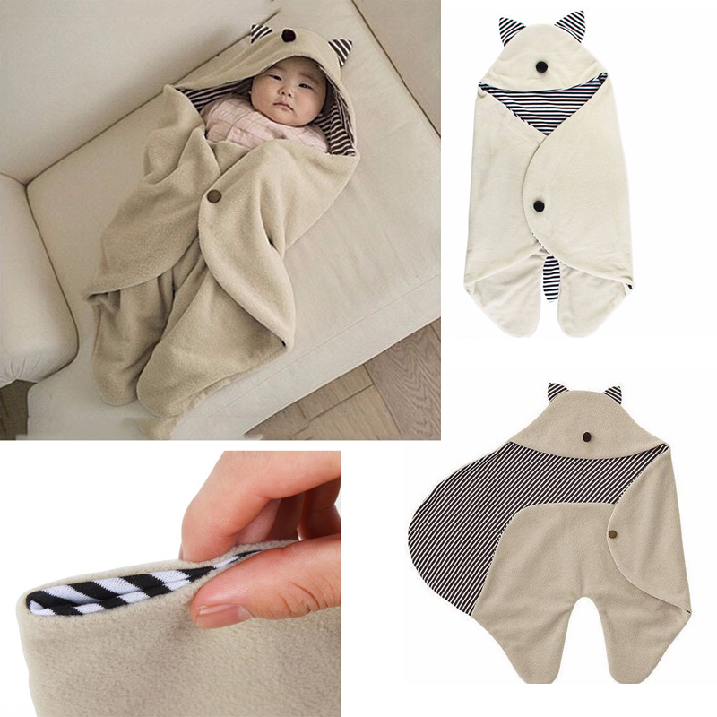Baby Sleeping Bags Clothing Sets Envelope For Baby Newborns Fashion Blanket Swaddle Cute Cartoon Baby Bedding