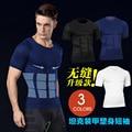 Marca que adelgaza de los hombres camisetas masculinas músculo culturismo underwear cintura corsés moldeadores del cuerpo medias de compresión camisa