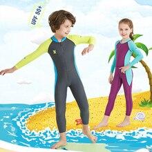 Детский купальник для дайвинга, купальный костюм для серфинга 2,5 мм, неопреновый полный костюм, защита от УФ-лучей для детей