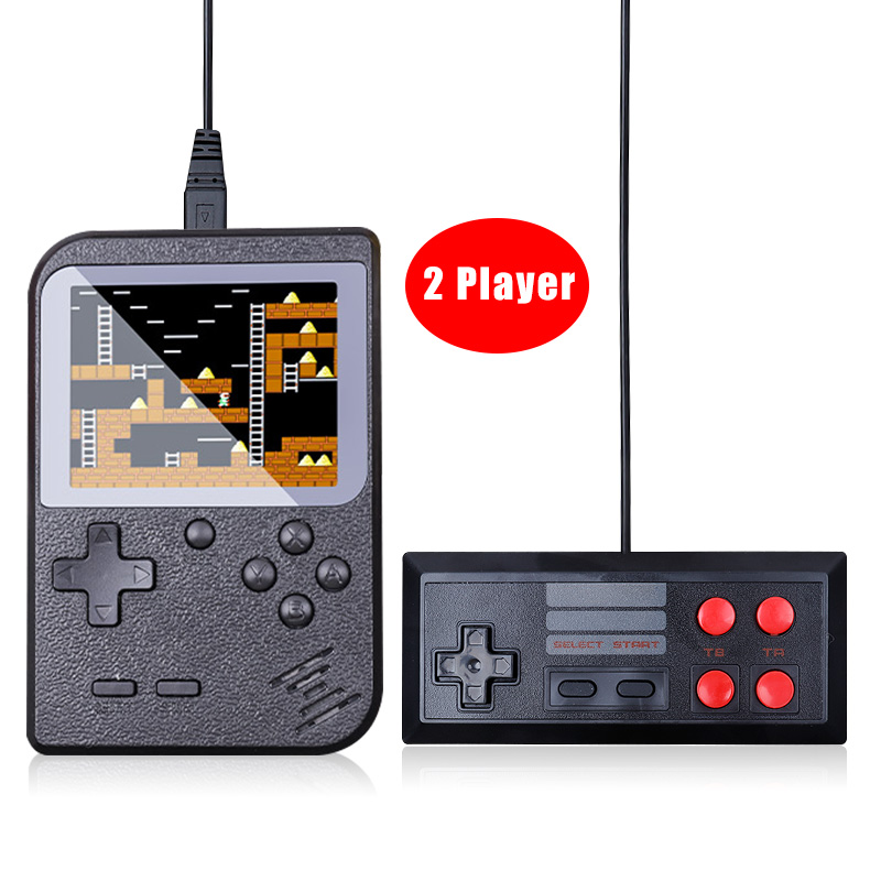 Retro Handheld Game Console Extra Portable Gamepad 3inch Support TV 2 Player 400 Classic Video Game Console Present Kids Adult-in Handheld Game Players from Consumer Electronics