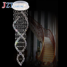 T Luxury Modern Crystal Ceiling Light Fashion Decoration Lamps With LED GU10 Bulbs For Stairs&Living Room Height200cm цена в Москве и Питере