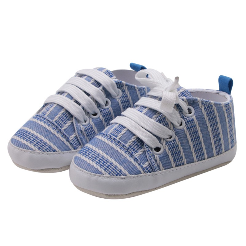 Toddler Girls Boys Canvas Casual Lace-up Shoes Anti-Slip Breathable First Walkers Cute Infant Baby Gingham Shoes Sneakers New