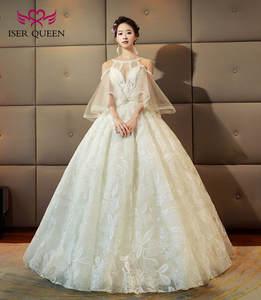 b04aa937da7cc Fashion Europe Ball gown Princess Wedding Dress 2018 Flare Sleeve Peals  crystals beaded Beautiful Bridal Wedding Dresses WX0133