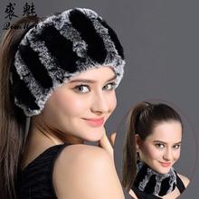 QiuMei กระต่ายขนสัตว์ผ้าพันคอผู้หญิงฤดูหนาวผ้าพันคอผมวงดนตรีแฟชั่นอินเทรนด์ผ้าพันคอที่อบอุ่น ใหม่สบายๆผ้าพันคอ Rex