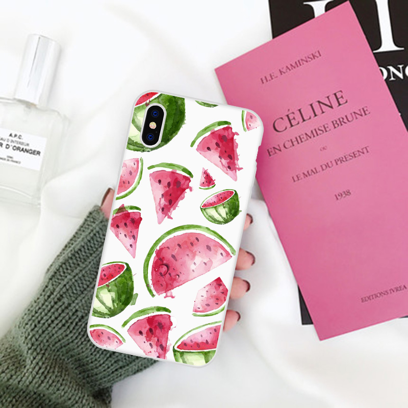 LAUGH LIFE Art Flowers Green Leaf Phone Case For iPhone XR Summer Hot Sale Fresh Plants Phone Back Cover Cases Transparent Shell in Fitted Cases from Cellphones Telecommunications
