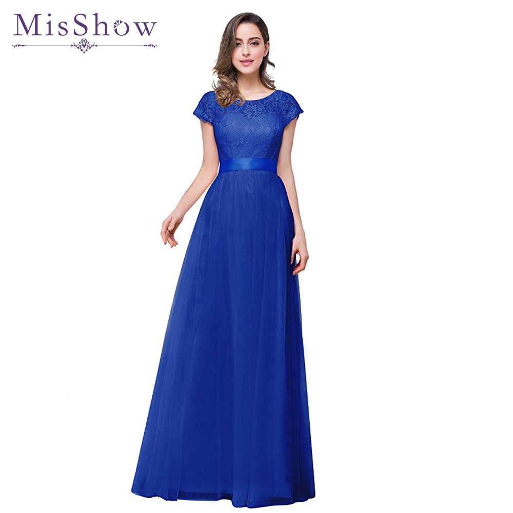 robes demoiselles d honneur 2018 Under 50   Bridesmaid Dresses Long A Line  Cap Sleeve da40e4bc6c14