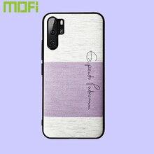 For Huawei P30 Pro Case Cover Mofi Back Sponge Cotton Cloth Soft P30Pro Purple Pink Blue Brown