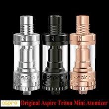 100% original aspire triton mini atomizador 2 ml pyrex clearomizer 510 sub ohm atomizador tanques top llenado