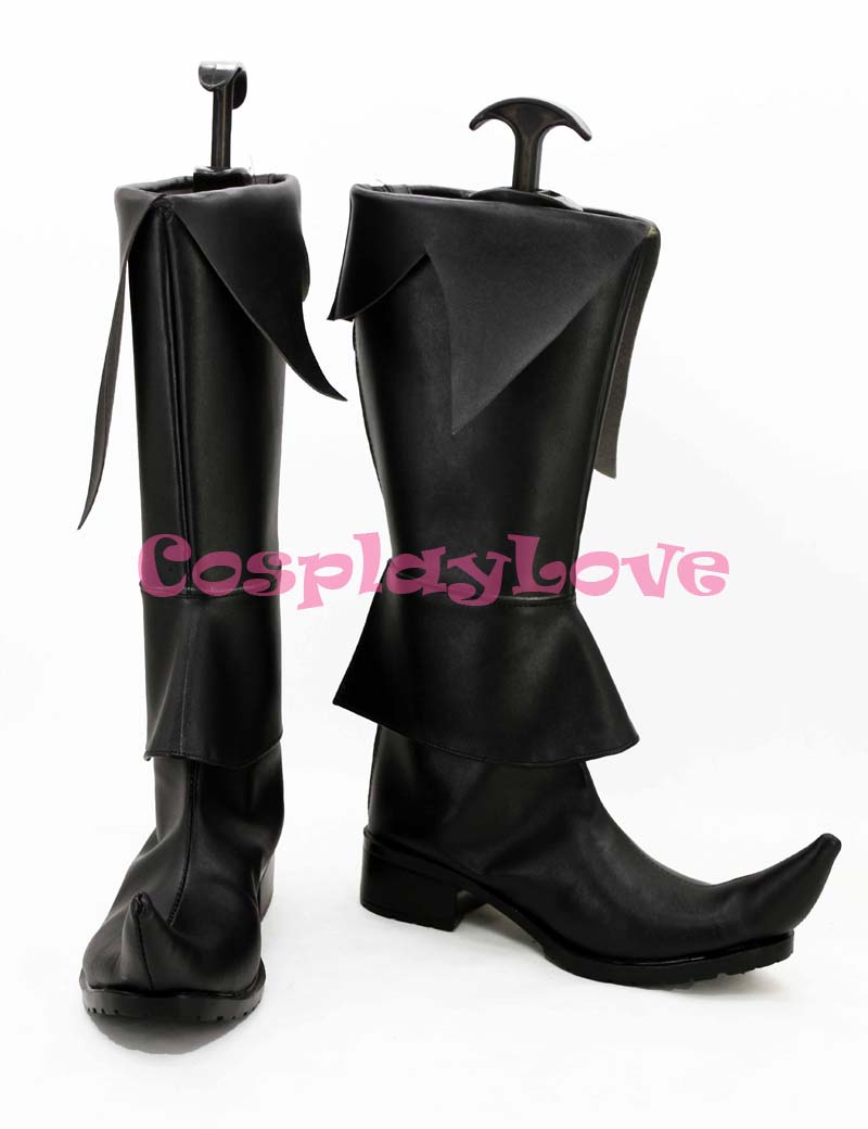 Custom Made Magi Hakuryuu Cosplay Shoes Boots Black Color For Halloween Christmas Festival CosplayLove