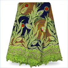 100 Cotton African Wax Fabric African printed wax fabric of dress L16061402