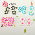 15pc/lot 20mm Polymer Clay Fimo Faux Plumeria Flower Beads Diy Handmade Craft Bracelet Necklace Fashion Hair Jewelry Accessories