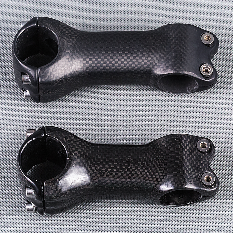 ФОТО Angle 6 degree 3K matte glossy lightweight full Carbon Fibre bicycle stem Cycling parts 31.8mm For Mountain  / Road bike