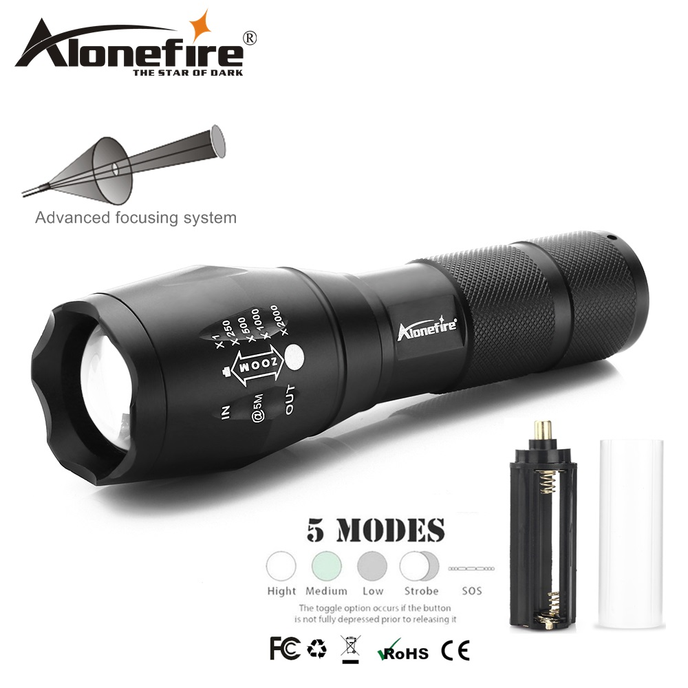 AloneFire G700 XML T6 L2 U3 V6 Aluminum Waterproof Zoom CREE LED Flashlight Travel Torch linterna AAA 18650 Rechargeable Battery alonefire tactical flashlight x800 cree xml t6 l2 u3 led zoom floodlight lantern torch lamp aaa 26650 18650 rechargeable battery