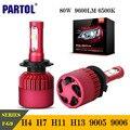 Partol H4 H7 H11 9005 9006 H13 Faróis Do Carro LEVOU Lâmpadas 80 W XHP50 9600LM CREE Chips LED Farol Nevoeiro Lâmpada 6500 K 12 V Série F-G9