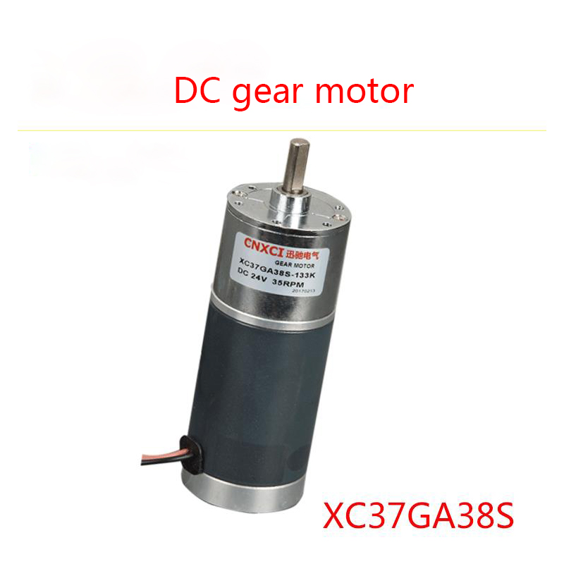 XC37A38S miniature gear motor, 12V/24V DC low speed motor, high torque steel tube motor, CW/CCW цена