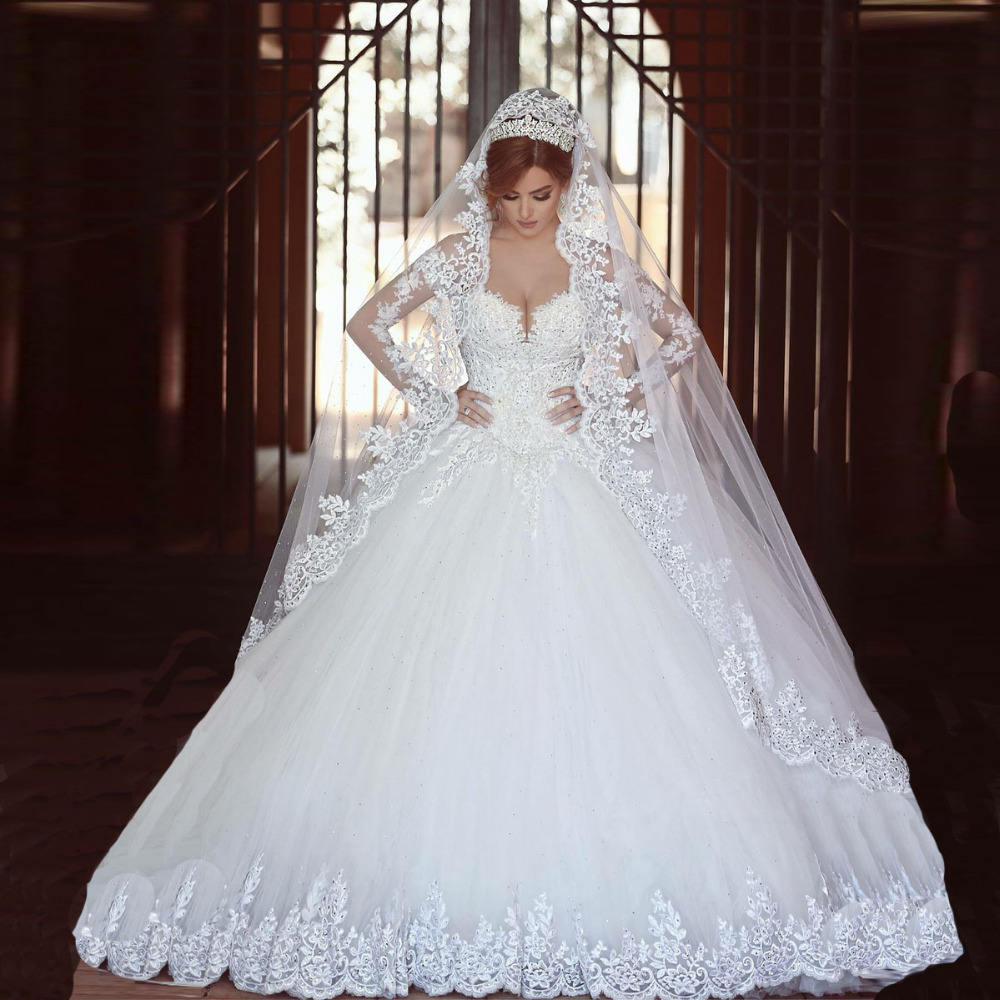 fashionable long sleeves princess ball gown wedding dress dress shopping sales online bridal dresses 2015 fast shipping hot sale