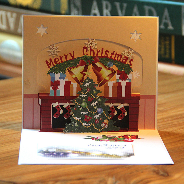 3d christmas eve pop up card laser cut christmas tree new year 3d christmas eve pop up card laser cut christmas tree new year greeting cards message thank m4hsunfo