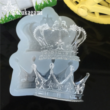 1pcs UV Resin Jewelry Liquid Silicone Mold Queen's Crown Shape Resin Charms Molds For DIY Intersperse Decorate Making Jewelry