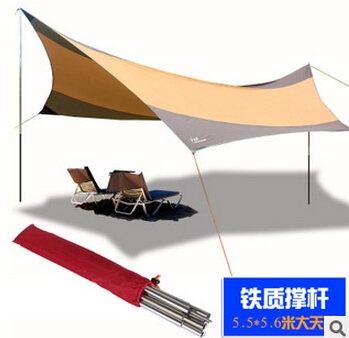 King canopy 5.5*5.6m super large size UV car sunshade tent/Hexagonal Punta rain awning tarp каталог punta