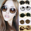 2016 Hot Summer Fashion Retro Vintage 90s Womens Round Lens Sunglasses for women Steampunk  Sun glasses Free Shipping A1