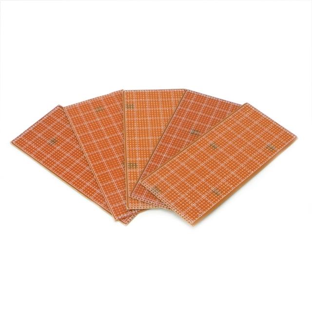 5 Pcs 6.5×14.5cm Stripboard Veroboard Uncut PCB Platine Single Side Circuit Board L15