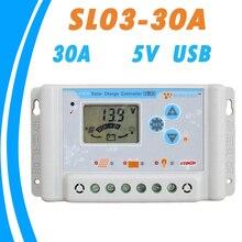 12V 24V 30A Regolatore Solare del Caricatore USB 5V Display LCD Screen con Ampio Intervallo di Temperatura del Pannello Solare regolatore PWM 2019 NUOVO