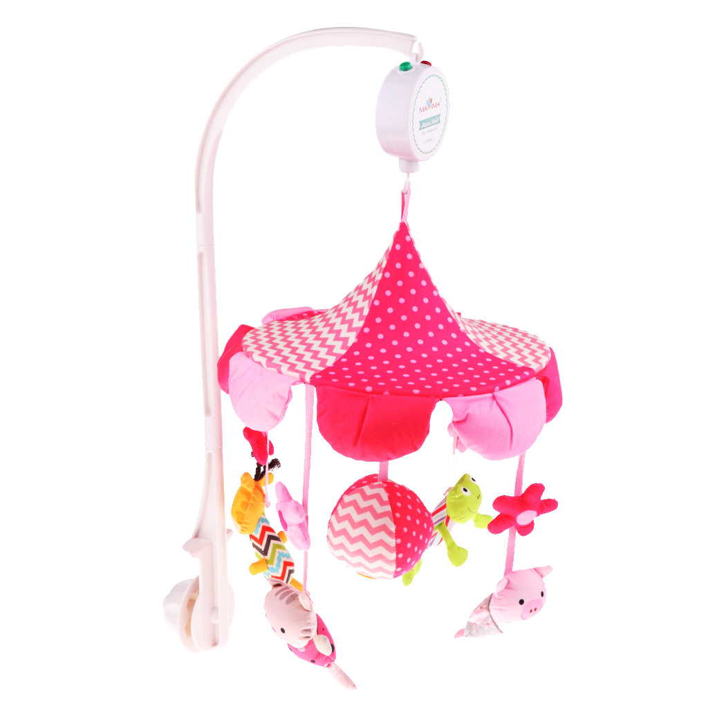 Baby Crib Mobile Bed Bell Holder Kid Toy Bracket Wind-Up/Auto Music Box Nursery infant toys plush bed wind chimes crib hanging bells mechanical music box mobile bed bell toy holder