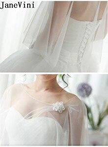 Image 4 - JaneVini High Quality Women Wedding Bolero Cloaks Handmade Flowers Evening Shawl Bridal Party Wrap Shrug Tulle Stoles Summer
