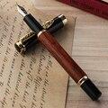Высококачественный деревянный перьевая ручка Jinhao 8802 золотой дракон зажим ретро ручка для подписи канцелярские принадлежности Подарочная ...