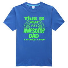 Awesome dad luminous Mens T-shirt. Fathers Day Gift.