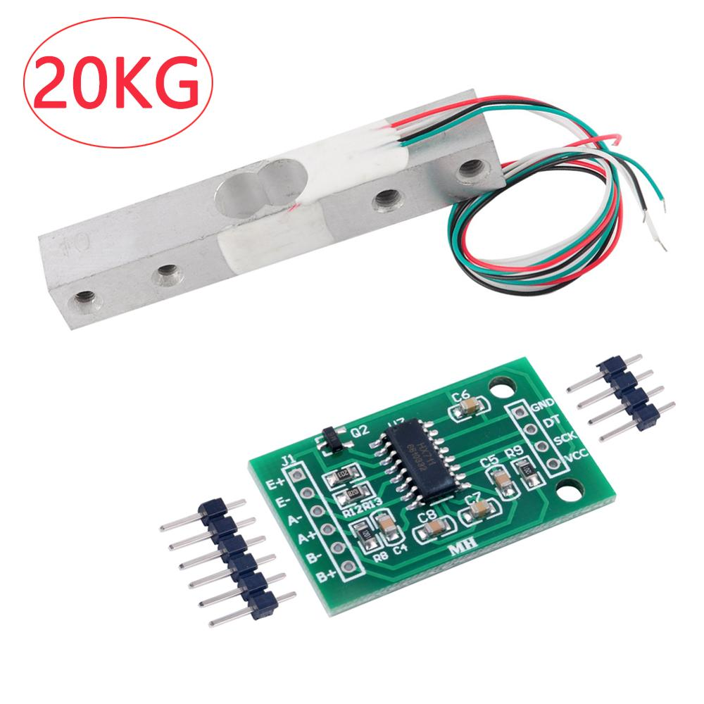 20KG Scale Load Cell Weight Weighing Sensor Module+HX711 Weight Sensor 24bits AD Module For Arduino RCmall