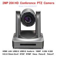 HD 2MP 1080 p USB2.0 USB 3.0 de Vídeo Conferência PTZ Interior câmera IP com HDMI de Vídeo Stream 20x Zoom Óptico 1080 p 60fps