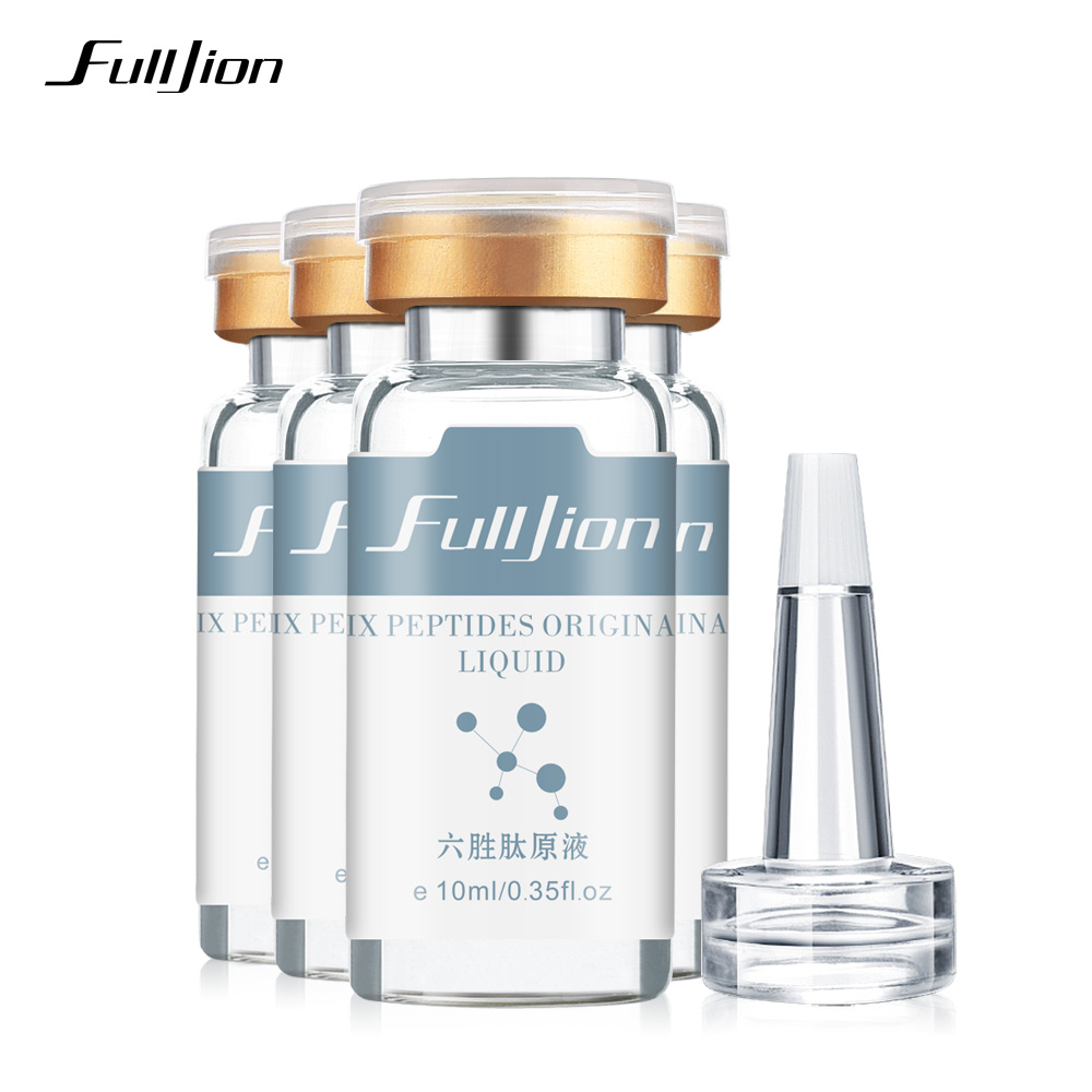 Fulljion Six Peptides Original Liquid Anti-Wrinkle Anti Aging Hyaluronic Cream Whitening Rejuvenating Face Lift Serum Skin Care 1pcs six peptides serum for striae anti wrinkle cream anti aging collagen rejuvenating face lift skin care