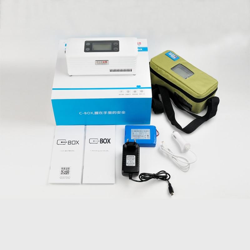 Portable mini fridge cooler insulin case usb mini fridge mini medical refrigerator insulin refrigerator car fridge with LCD-in Refrigerators from Home Appliances    1