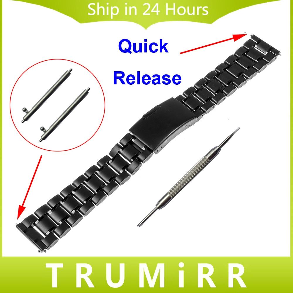 18mm 20mm Quick Release Watch Band for DW (Daniel Wellington) Men Women Watch Strap Stainless Steel Link Bracelet + Tool + Pins