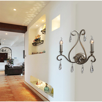 K9 Crystal Wall Lamps Modern Simple Art Deco Wall Lamp Living Room Bedroom Bedside Light