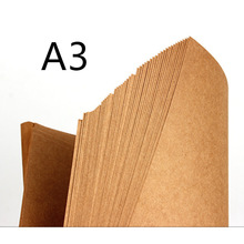 70-200gsm 20pcs High Quality A3 Brown Kraft Paper DIY Handmake Card Making Craft Paper DIY Thick Paperboard Cardboard