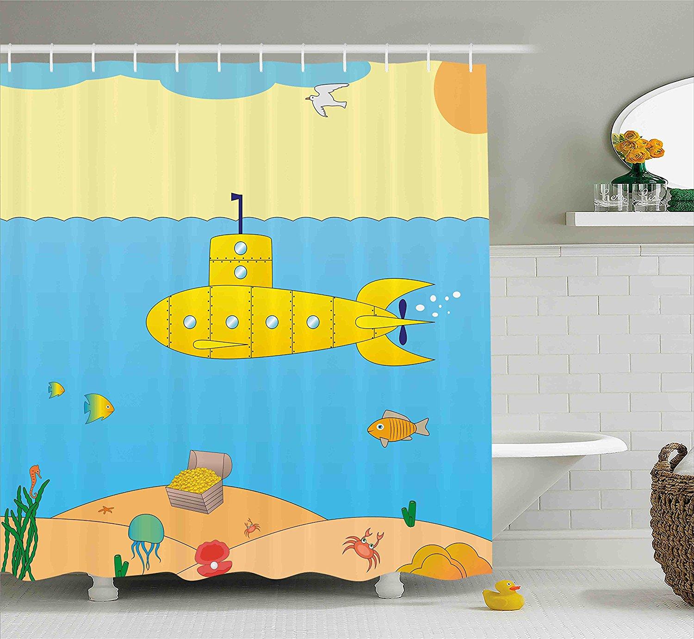 popular submarine shower curtain-buy cheap submarine shower
