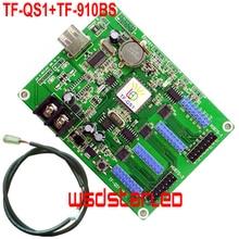 Module de luminosité du capteur de luminosité TF QS1 + TF 910BS 256*32 2 * HUB75B & 4 * HUB08 USB carte de contrôle de LED asynchrone polychrome