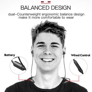 Baseus S06 Neckband Bluetooth Earphone Wireless earphones For Xiaomi iPhone earbuds stereo auriculares fone de ouvido with MIC Audio Audio Electronics Electronics Head phone Headphones & Headsets color: Black|red|White
