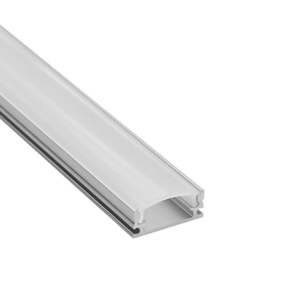 10 pièces 1 m led profilé en aluminium pour 5050 5630 barre led rigide lumière 5730 2835 3528 led bande logement canal avec couvercle capuchon clip